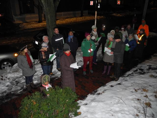 West End Carolers singing.